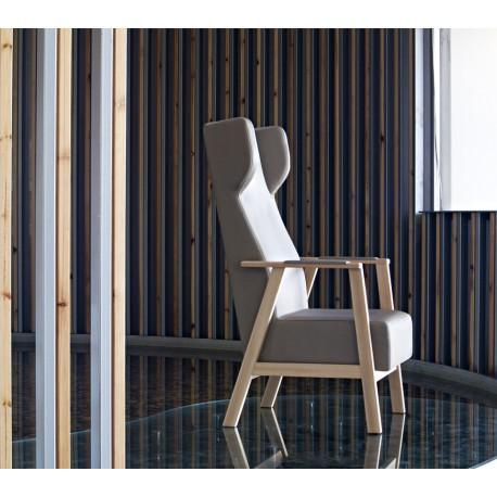 fauteuil unna avec oreilles mobilier jarozo. Black Bedroom Furniture Sets. Home Design Ideas