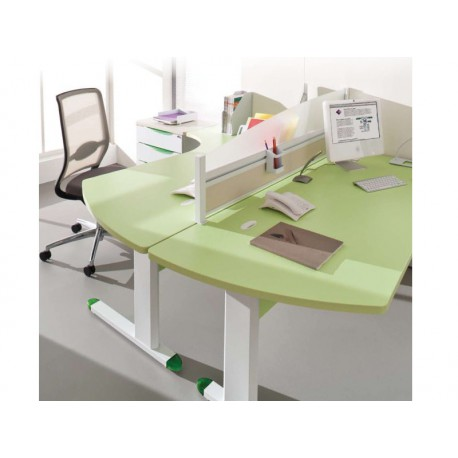 bureau compact 90 courbe ade. Black Bedroom Furniture Sets. Home Design Ideas