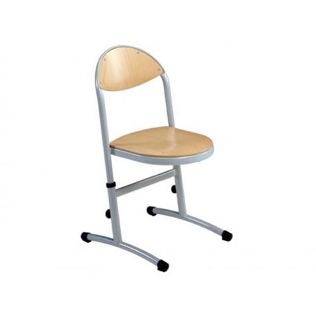 Chaise maternelle appui sur table et reglable en hauteur helia for Chaise reglable en hauteur
