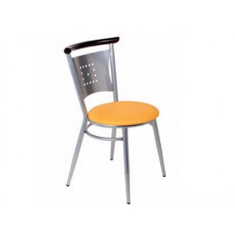 chaise m tal et assise tissu enduit. Black Bedroom Furniture Sets. Home Design Ideas