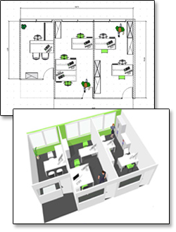 Plan d'installation 2D/3D