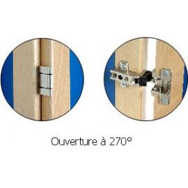 Armoire deux portes, 1/2 Penderie et 1/2 Lingerie DREUX
