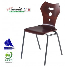 Chaise coque bois polyvalente