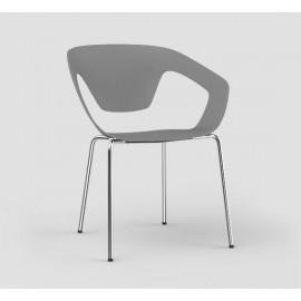 Lot de 4 fauteuils Liner pieds métal