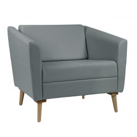 Fauteuil 1 place dossier bas gamme Wind
