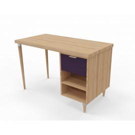 Table de bureau avec caisson et tiroir Agathe