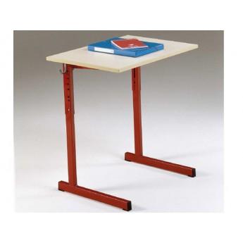 LOT de 2 Tables monoplaces reglables NIGER