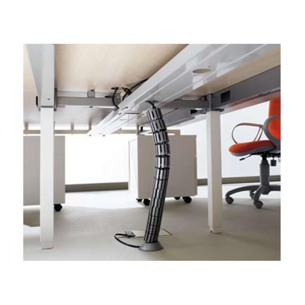 passe cable bureau awesome goulotte cache fil passe cable passe fil plastique en gris design. Black Bedroom Furniture Sets. Home Design Ideas