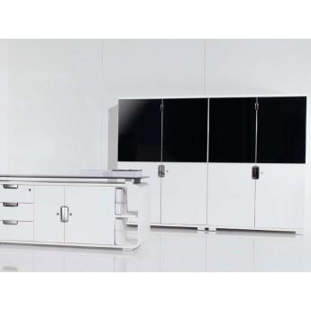 armoire haute avec partie haute en verre. Black Bedroom Furniture Sets. Home Design Ideas