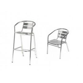 Chaise et tabouret métal