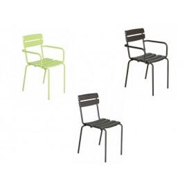 Chaise et fauteuil en métal