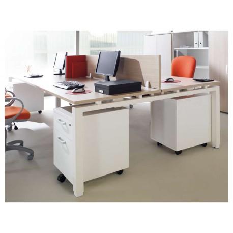 bureau droit pieds partag s type 2 eco. Black Bedroom Furniture Sets. Home Design Ideas