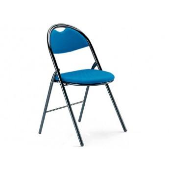 chaise pliante rev tement tissu enduit. Black Bedroom Furniture Sets. Home Design Ideas
