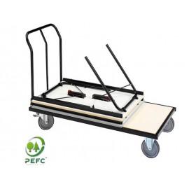 Chariot pour tables pliantes